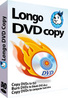 screenshot of Longo DVD Copy, copy DVDs to computer hard drive or burn DVDs to blank discs.