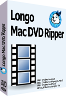 screenshot of Longo Mac DVD Ripper, rip dvds to iPad, iPod, iPhone, avi, mp4 on mac.
